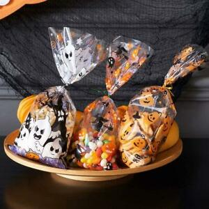 Cellophane Treat Bags 150pc Halloween Plastic Clear Candy Bags 300 Snack packing