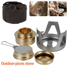 Portable Spirit Burner Alcohol Stove For Outdoor Hiking Camping BBQ Picnic FR