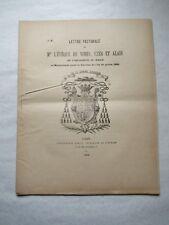 Lettre Pastorale de Mgr l'Évêque de Nîmes sur l'indissolubilité du mariage 1885