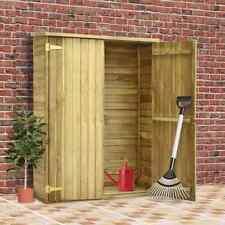 vidaXL Caseta Herramientas Jardín Madera Pino Impregnada 123x50x171cm Exterior
