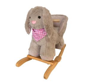Jiggle & Giggle Baby Rocking Plush Stuffed Bunny with Chair