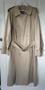 Vintage Mens Burberry Trench Coat Mac - Size 48R Ex Con Double Breasted