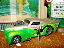 "1941 41 WILLYS COUPE ""NITRO WILLYS"" LIMITED EDITION CAR 1/64 BLOWN DRAG CAR HW"
