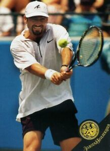 Andre Agassi - Tennis - very rare card from Russian magazine 2000