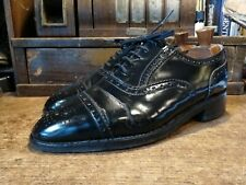 Vtg Loake Black Leather Brogues UK7.5 RRP£395 Made In England Rare Shoes Loafers