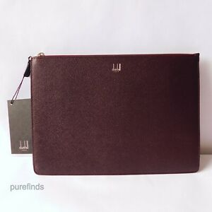 DUNHILL CADOGAN BURGUNDY LEATHER FOLIO, A4 SIZE, RRP £385 NWT DUNHIL BOX