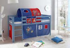 Kinder-Bettgestelle ohne Matratze aus Kiefer zum Zusammenbauen in Rot