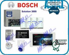 "BOSCH ALARM Solution 3000 Kit 5"" touch screen keypad 4 PIR free programming"