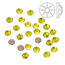 SWAROVSKI HOTFIX 2078 Stile Retro Piatto Cristalli QUARZO CITRINO (ss16) confezione da 24 (k63/8)