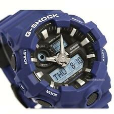 CASIO G-SHOCK, GA700-2A GA-700-2A, ANALOG DIGITAL, BLUE x BLACK, MATTE, BIG CASE