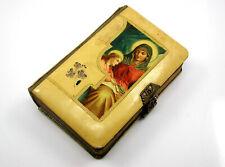 1878 Religious Prayer Book Brass and Celluloid Bound German Die Feier des Cages