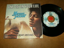 MICHAEL JACKSON - ONE DAY IN YOUR LIFE - DEAR MICHAEL   - 45 PS FRANCE / LISTEN
