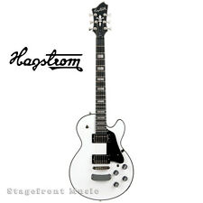 HAGSTROM HSSUSWEWHT SUPER SWEDE ELECTRIC GUITAR IN WHITE GLOSS - NEW