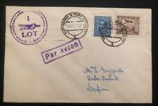 1931 Warsaw Poland First Flight Airmail cover FFC To Sofia Bulgaria