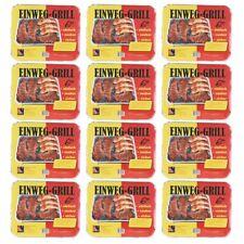 12 Stück TILL-ZÜNDFIX Einweg-Grill Set BBQ Edition