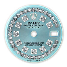 Rolex Ladies Datejust SS Ice Blue String Diamond Dial with Vintage Markers