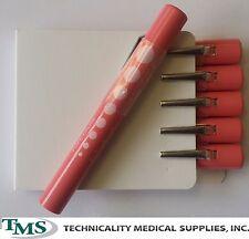 24 Disposable Medical Diagnostic Penlights w pupil gauge yellow light ENT, EMT
