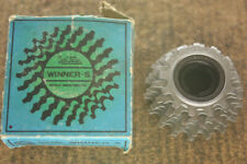 Vintage NOS NEW NIB SunTour silver Winner - S  6 sp. 13-18 freewheel cassette