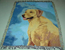 Yellow Lab ~ Yellow Labrador Retriever Tapestry Afghan Throw ~ by Linda Picken