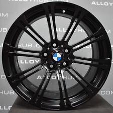 "GENUINE BMW M3 E90/2/3 19""INCH 220M SPORT 10 SPOKE SATIN BLACK ALLOY WHEELS X4"