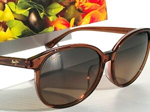 NEW Maui Jim WATER LILY Brown Crystal Polarized BRONZE Womens Sunglass HS796N-18