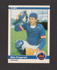 1984 Fleer Update #U-37 MIKE FITZGERALD Mets MINT