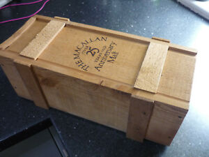 Vintage The Macallan Over 25 Years Old Anniversary Malt Whisky Wooden Box Only