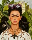 Print - Frida Kahlo, Self-Portrait with Thorn Necklace and Hummingbird, 1940