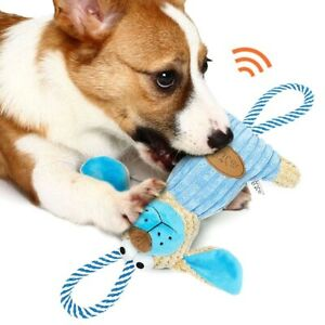 Squeaky Dog Toy Soft Plush Pet Chew Toy With Tug Rope For Medium Large Dogs