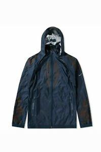 Nike Undercover Gyakusou Hooded Jacket Blue Women's Size M  (AJ0060-402) New