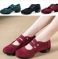 Ladies Faux Suede Wedge Elastic Round Toe 3Colors Dancing Outdoor Womens Shoes