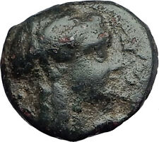 ANTIOCHOS III Megas 222BC RARE R1 Ancient Greek SELEUKID King Coin APOLLO i62794