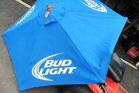 Umbrella Bud Light Blue large 7'w x 8'H all wood cloth bar Table advertising