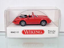 WIKING 016203 - H0 1:87 - PORSCHE 911 SC CABRIOLET - Rouge - Neuf Emballage