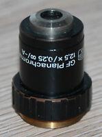 Zeiss Jena Mikroskop Microscope Objektiv GF Planachromat 12,5x/0,25 ∞/-A