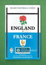 #Bb. 1993 England v France Rugby Union Program