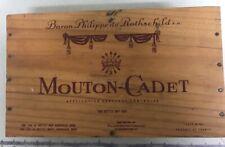 Baron Philippe de Rothschild Mouton Cadet Wooden Gift Box Empty box