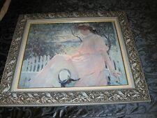 "Frank Weston Benson, ""Eleanor"" Oil Painting Reproduction on Canvas 30x34"""