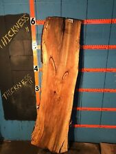 """#9896    1 5/8"""" THICK spalted yellow birch live edge slab lumber end table"""