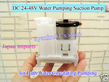 DC 24V-48V Water Pumping Suction Circulating Pump Motor 6400 RPM for Bath Water