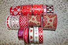 Lot of 16 Valentine's Day Ribbon New & Partial