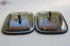 Chevy GM Truck Outside Exterior Rectangle Black Door Rear View Mirror Head Set