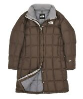 Womens The North Face 600 Brown Down Puffer Coat Jacket Vintage Quilted Size M