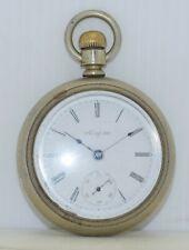 ELGIN Antique Pocket Watch 18s 7j Gr 208 Model 5 c.1901 59-mm Wadsworth BIG Case