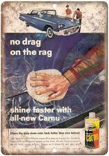 "Johnson's Carnu Car Wax Vintage Ad 10"" x 7"" Reproduction Metal Sign A194"