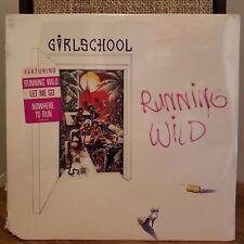 Girlschool Running Wild Sealed with Hype Sticker Vinyl LP British Hair 1985