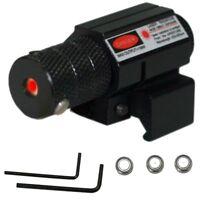Tactical Mini Red Dot Laser Sight Scope Weaver Picatinny Mount Set for Gun Rifle