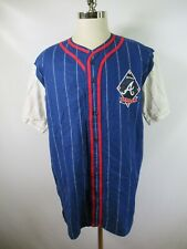 E4613 VTG MIRAGE Atlanta Braves MLB Baseball Jersey Size L