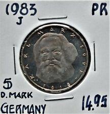1983-J Germany 5 Deutsche Mark Proof