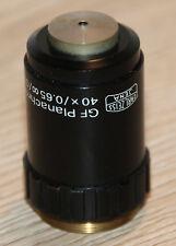 Zeiss Jena Mikroskop Microscope Objektiv GF Planachromat 40x/0,65 ∞/0,17-A
